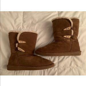 Bearpaw Tan Fur Boots Size 9